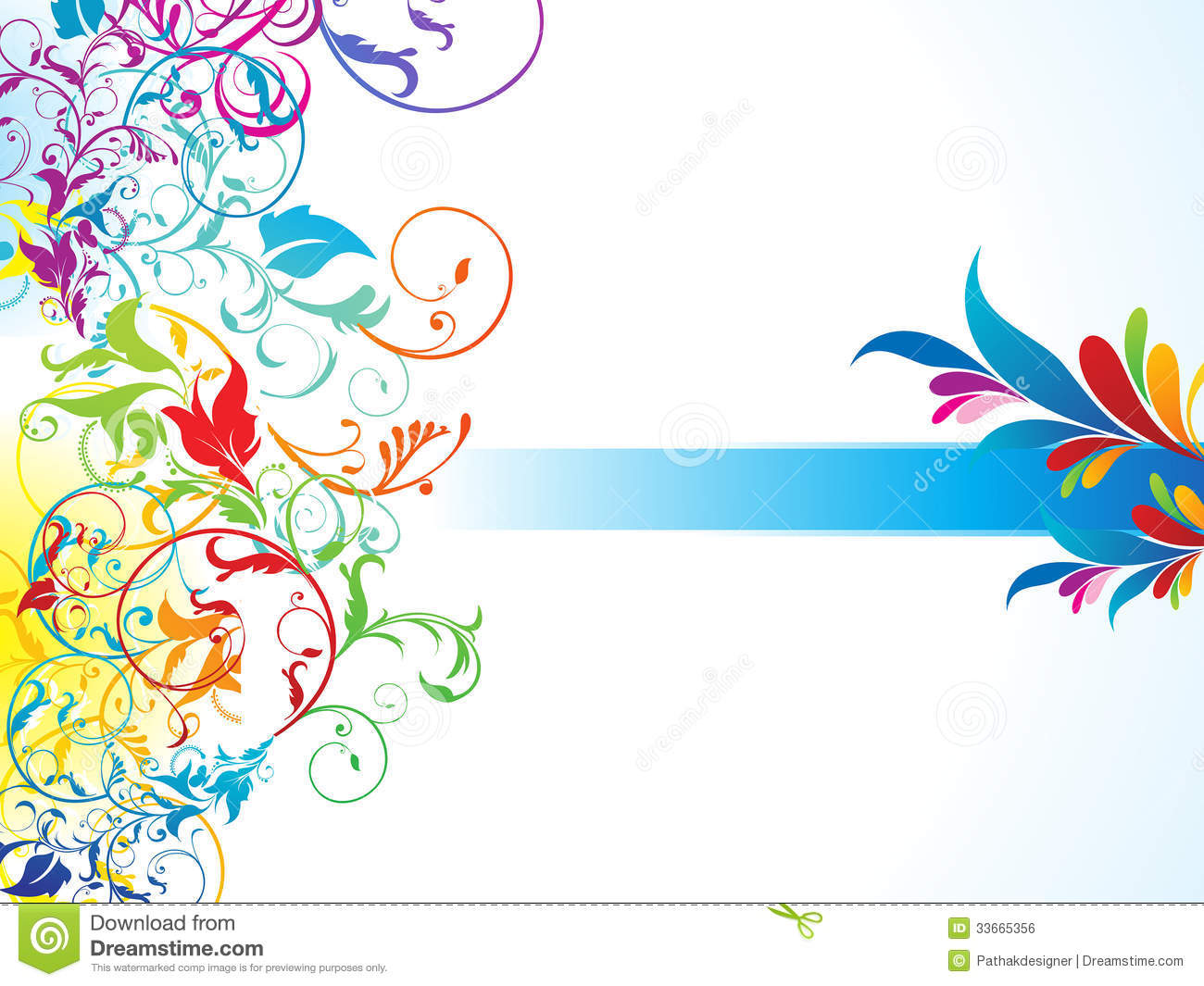 Abstract Colorful Floral Background Stock Vector