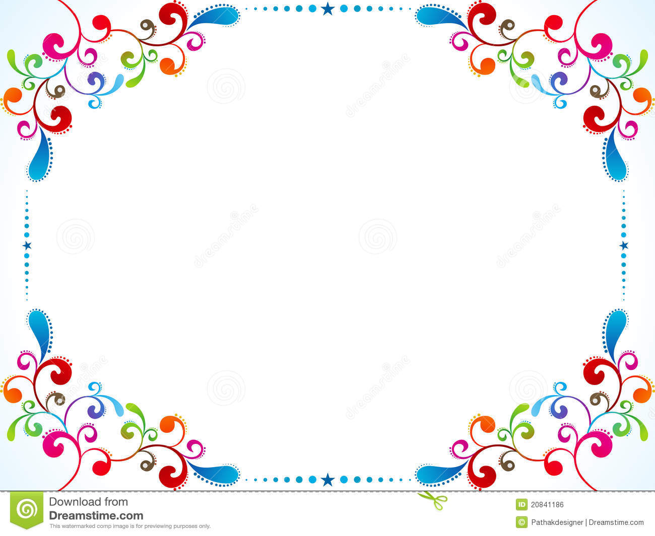 Abstract Colorful Floral Border Royalty Free Stock Image ...