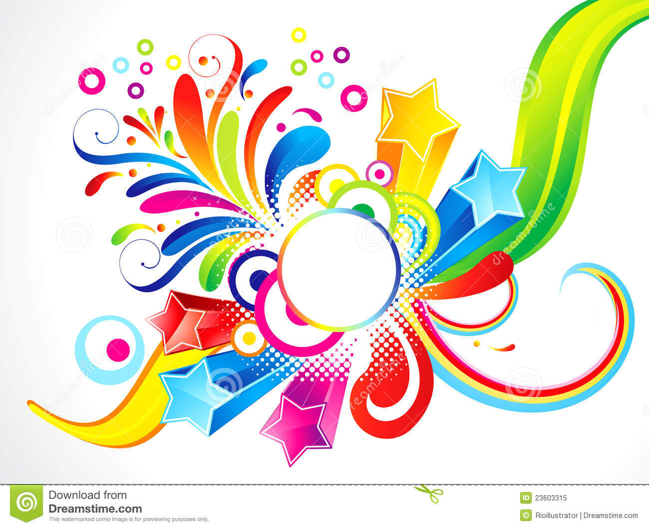 Abstract Colorful Floral With Star Stock Vector ...