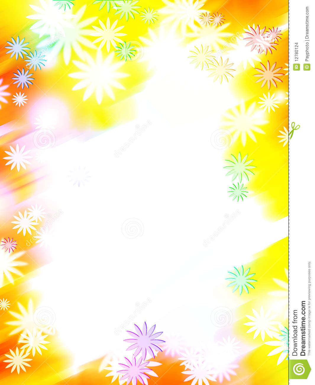 Abstract Colorful Flower Border Stock Illustration Image 12780124 Colorful Page Border