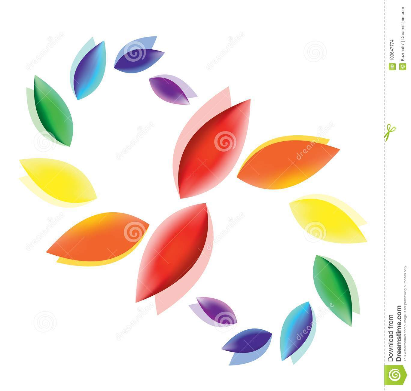 Abstract Colorful Fluttering Petals A Symbol Of Purity Peace Love