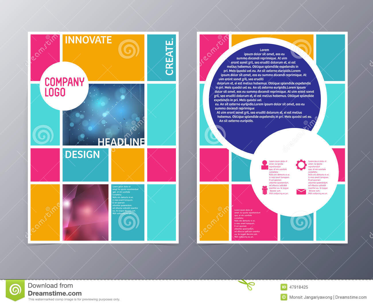 professional business three fold flyer template stock photo abstract colorful flyer design template vector a4 royalty stock photo