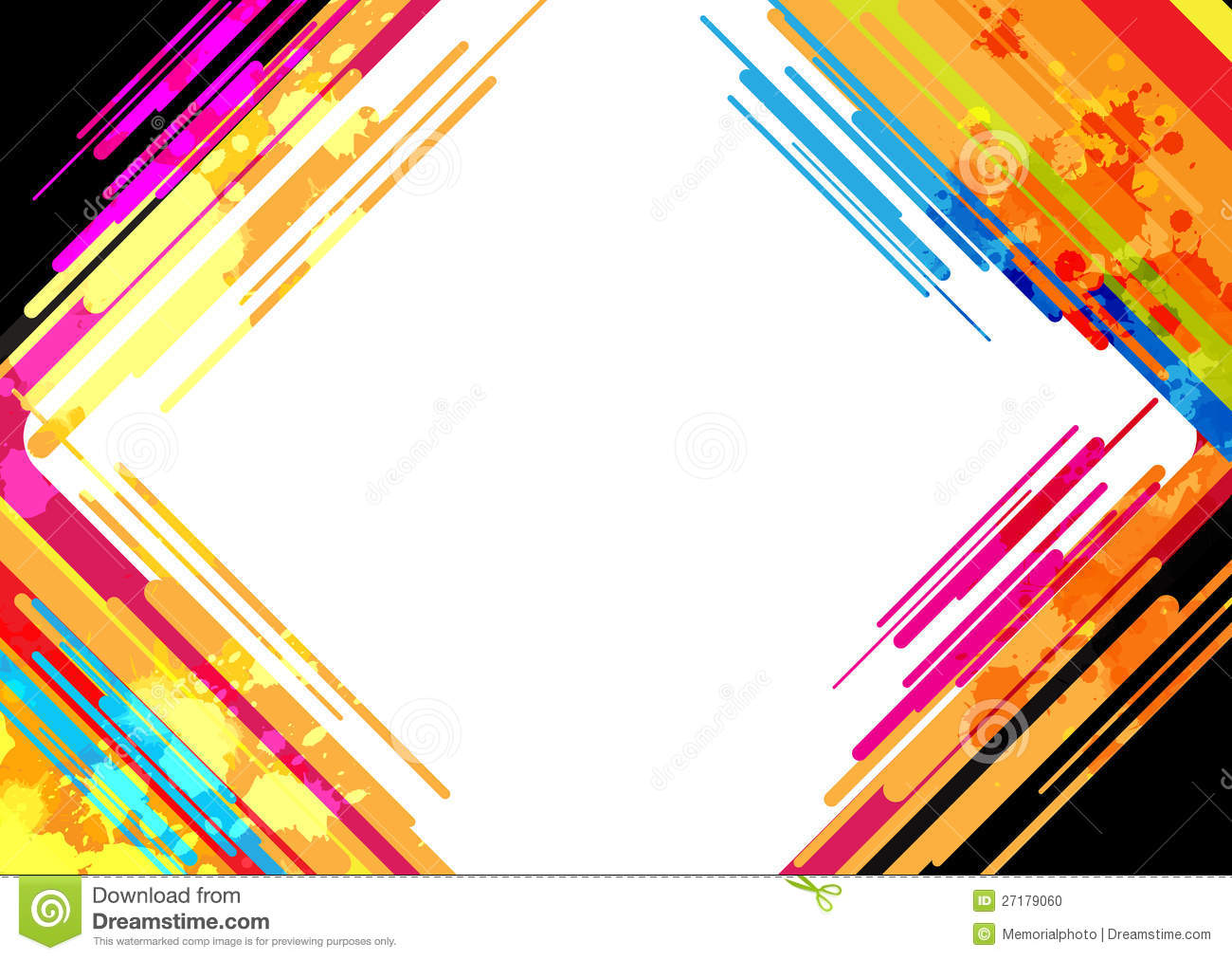 Abstract colorful frame design stock photo image 27179060 for Design image photo