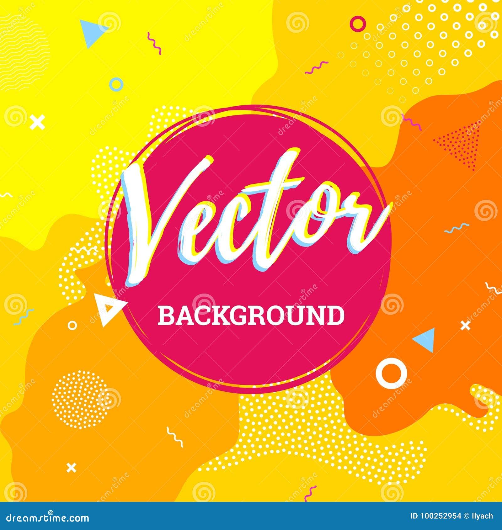Abstract colorful fun banner background childish playground vector splash kid cartoon design