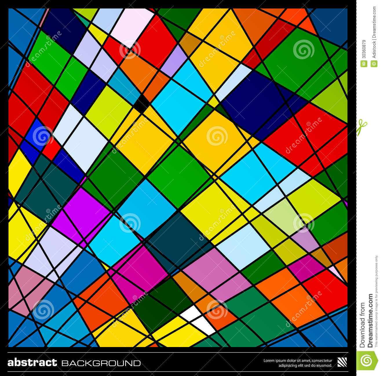Abstract Colorful Geometric Background Royalty Free Stock