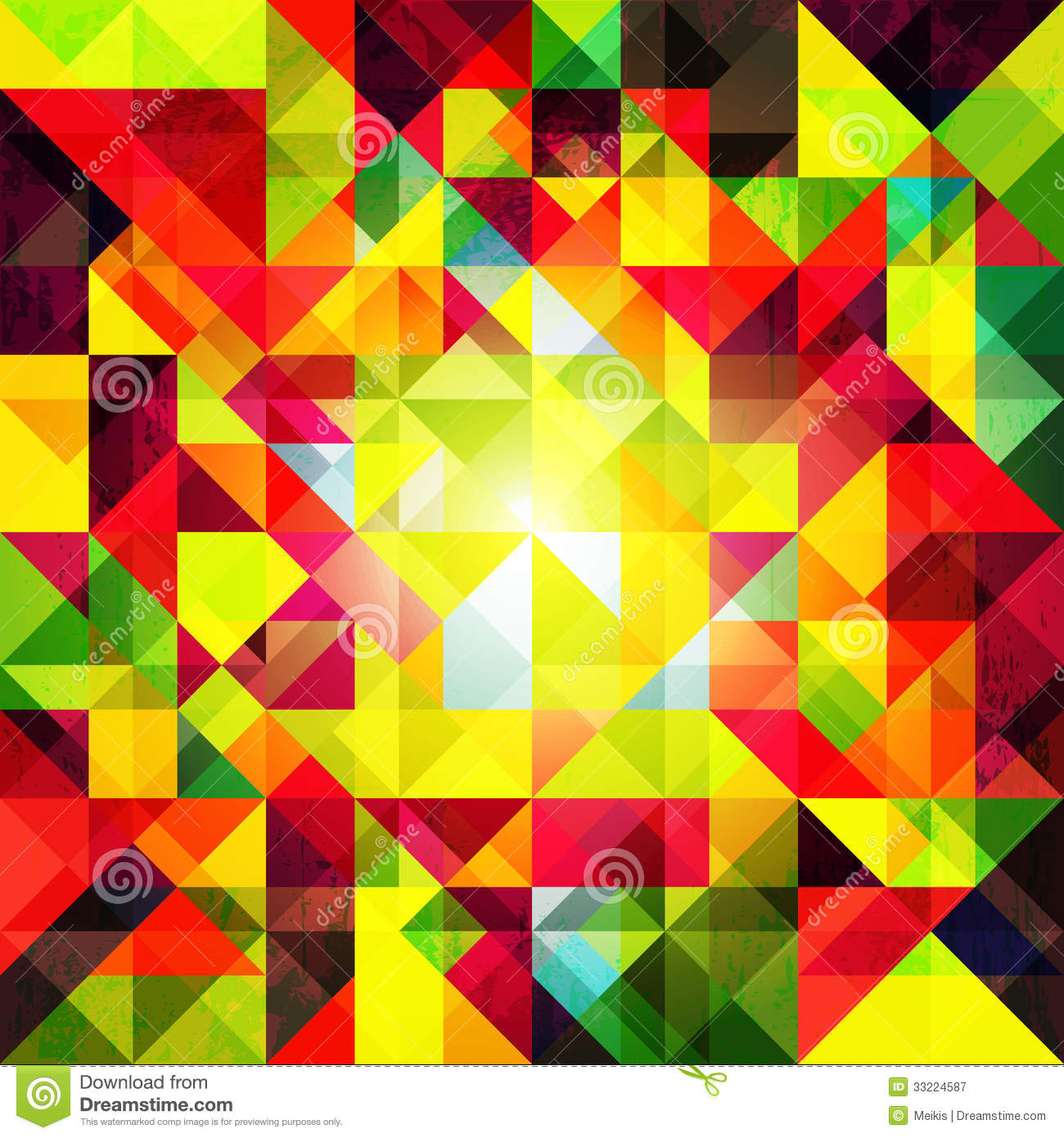 Abstract Colorful Geometric Grunge Background Stock Vector