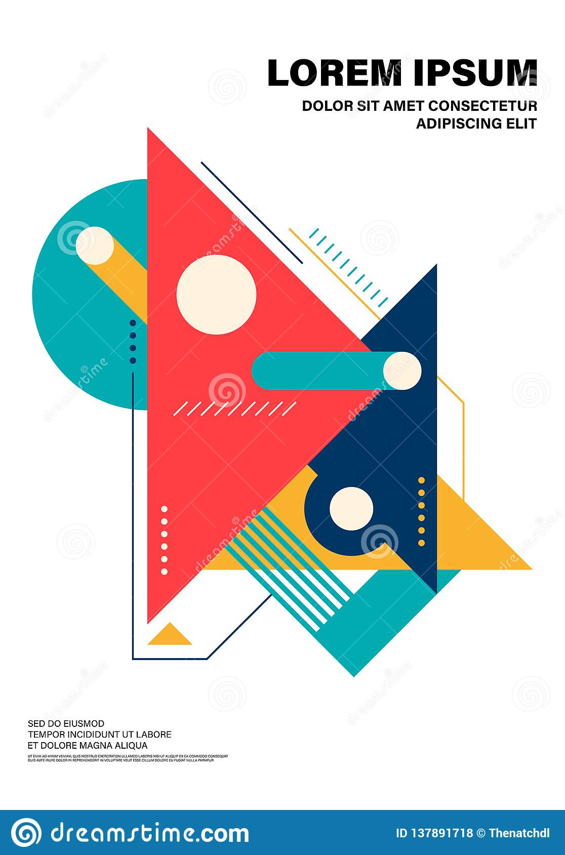 Abstract colorful geometric shape layout design template poster background