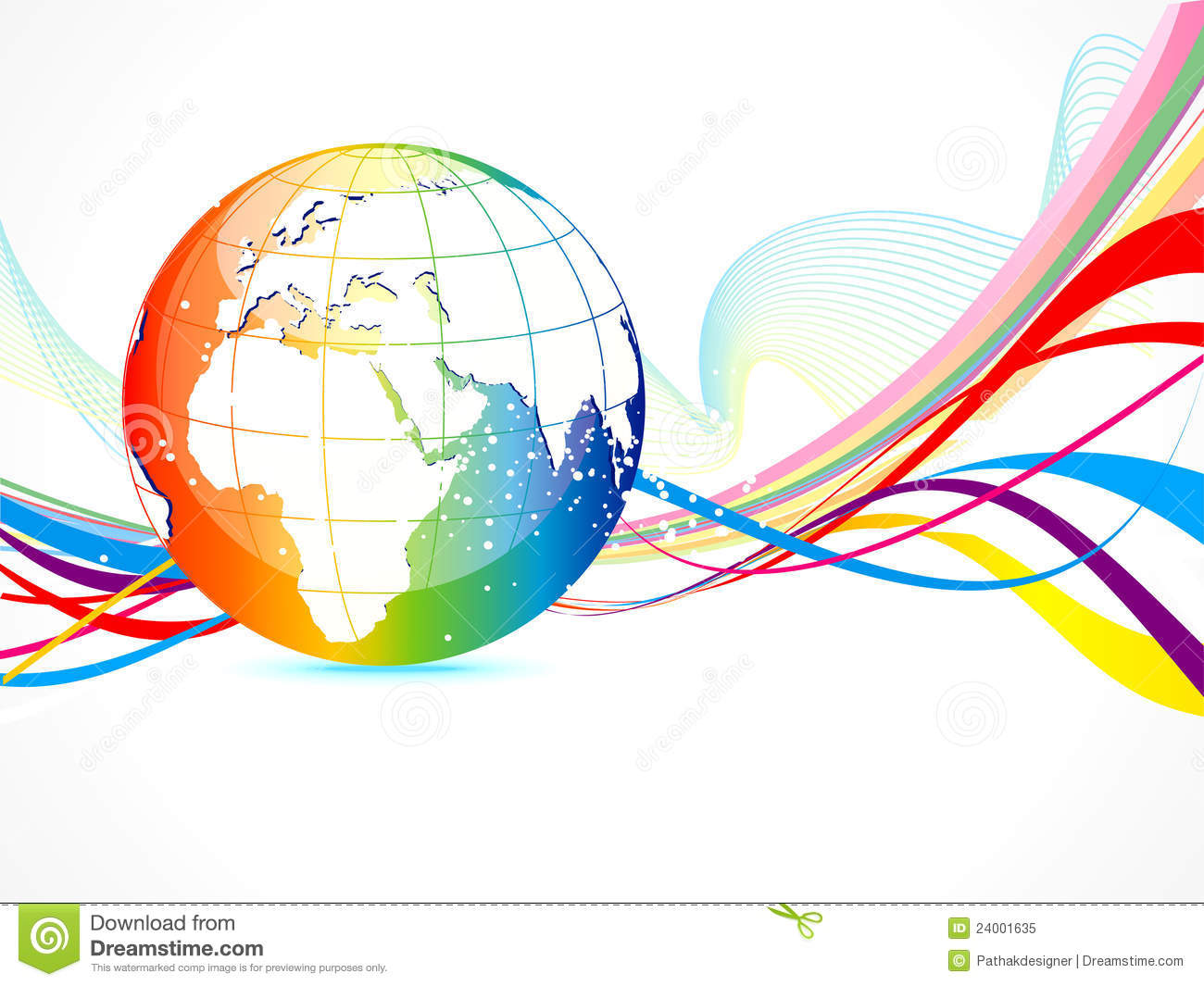 Abstract Sports Background Royalty Free Stock Image: Abstract Colorful Globe Background Royalty Free Stock