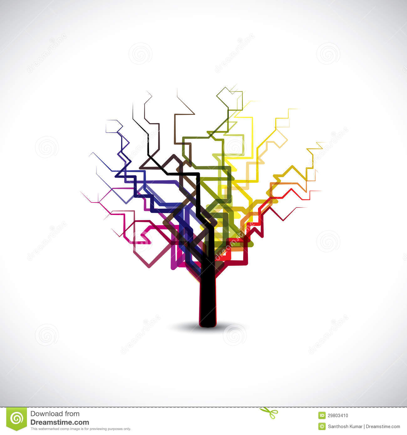 Abstractcolorful graphic tree symbol in digital o stock vector abstractcolorful graphic tree symbol in digital o biocorpaavc