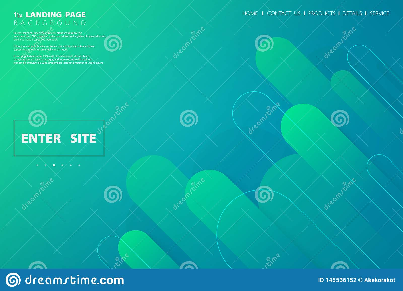 Abstract colorful green blue web landing page design geometric. illustration vector eps10