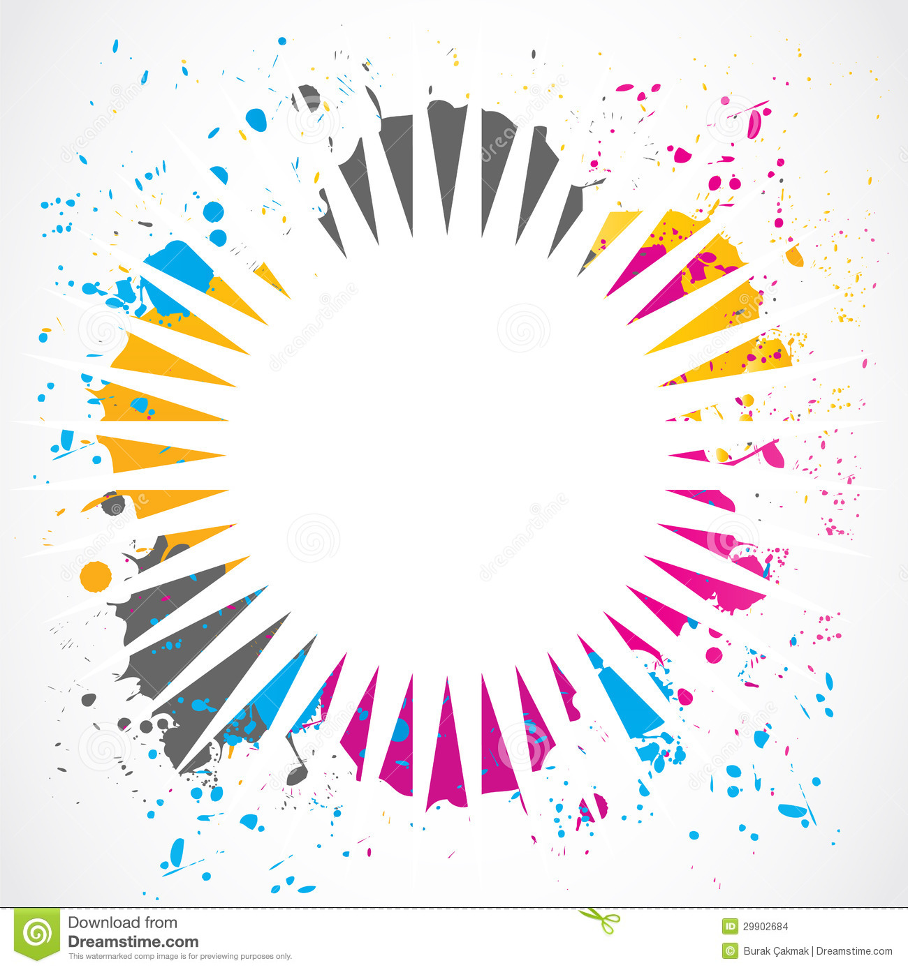 abstract colorful grunge splash cartoon vector Vector Halftone Transparent White Halftone Vector