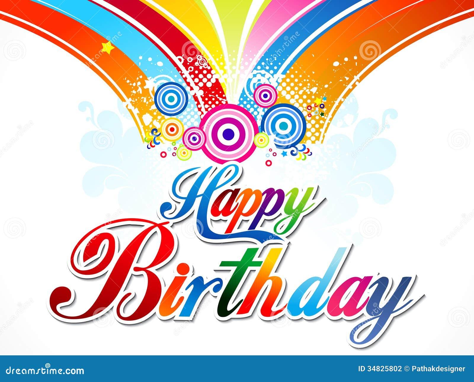 Abstract Happy Birthday Background Stock Photos - Image: 35914423