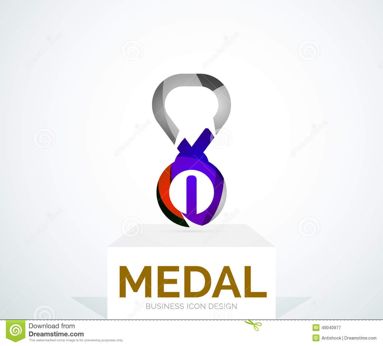 Abstract Colorful Logo Design Medal Stock Vector - Image: 49040977