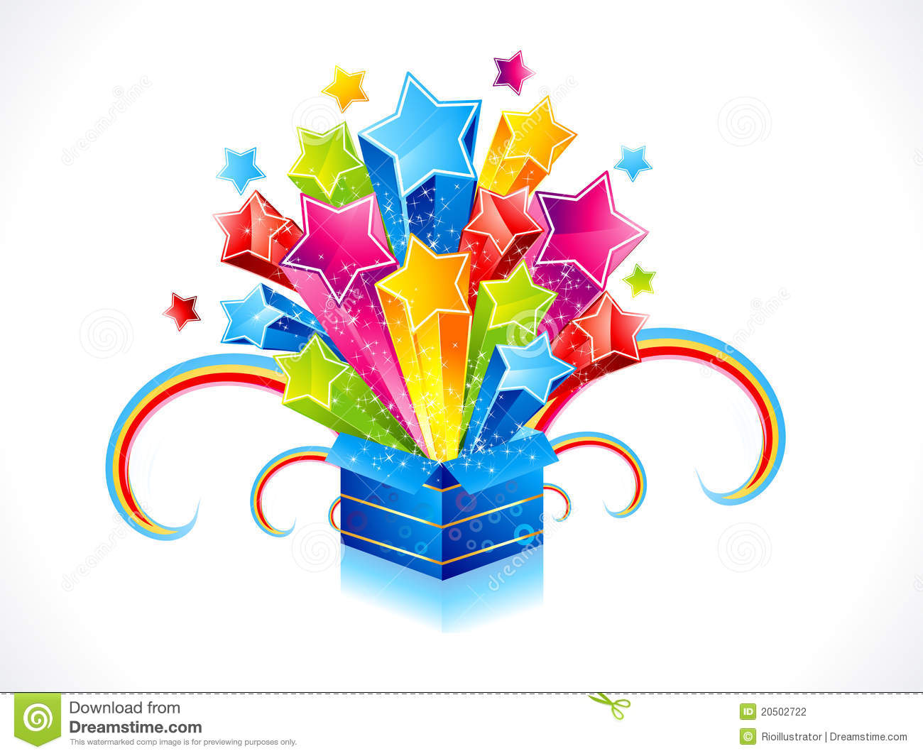 Abstract Colorful Magic Box With Star Stock Photography - Image ...
