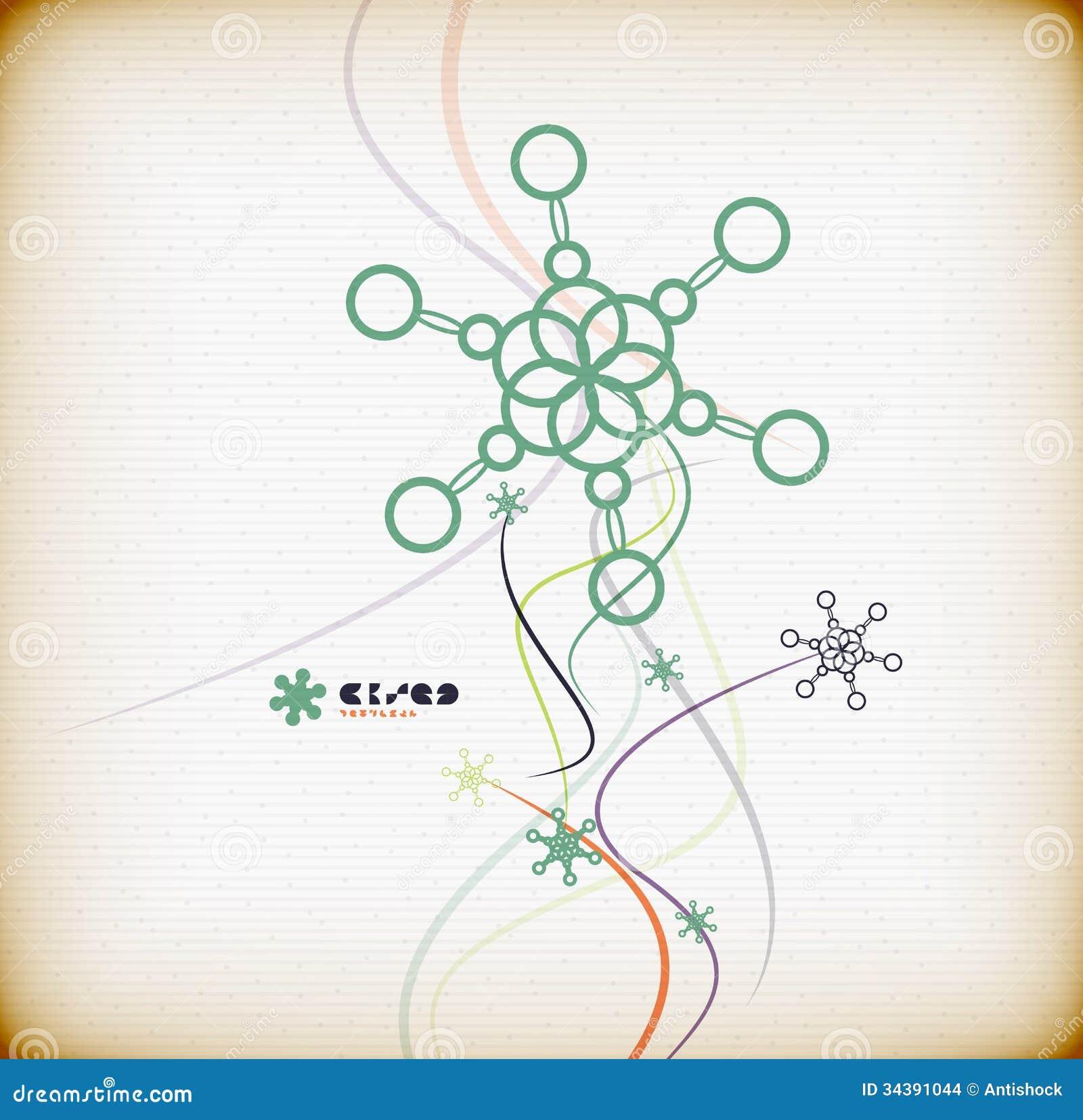 abstract colorful minimal christmas card stock vector illustration