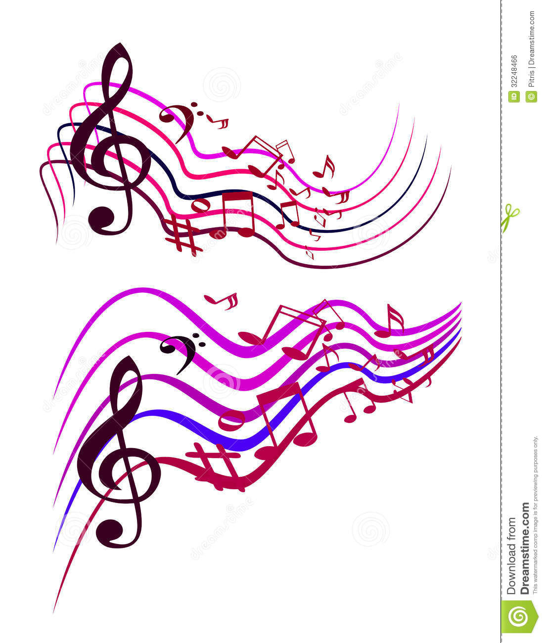 Abstract Colorful Music Notes Stock Vector - Illustration ...