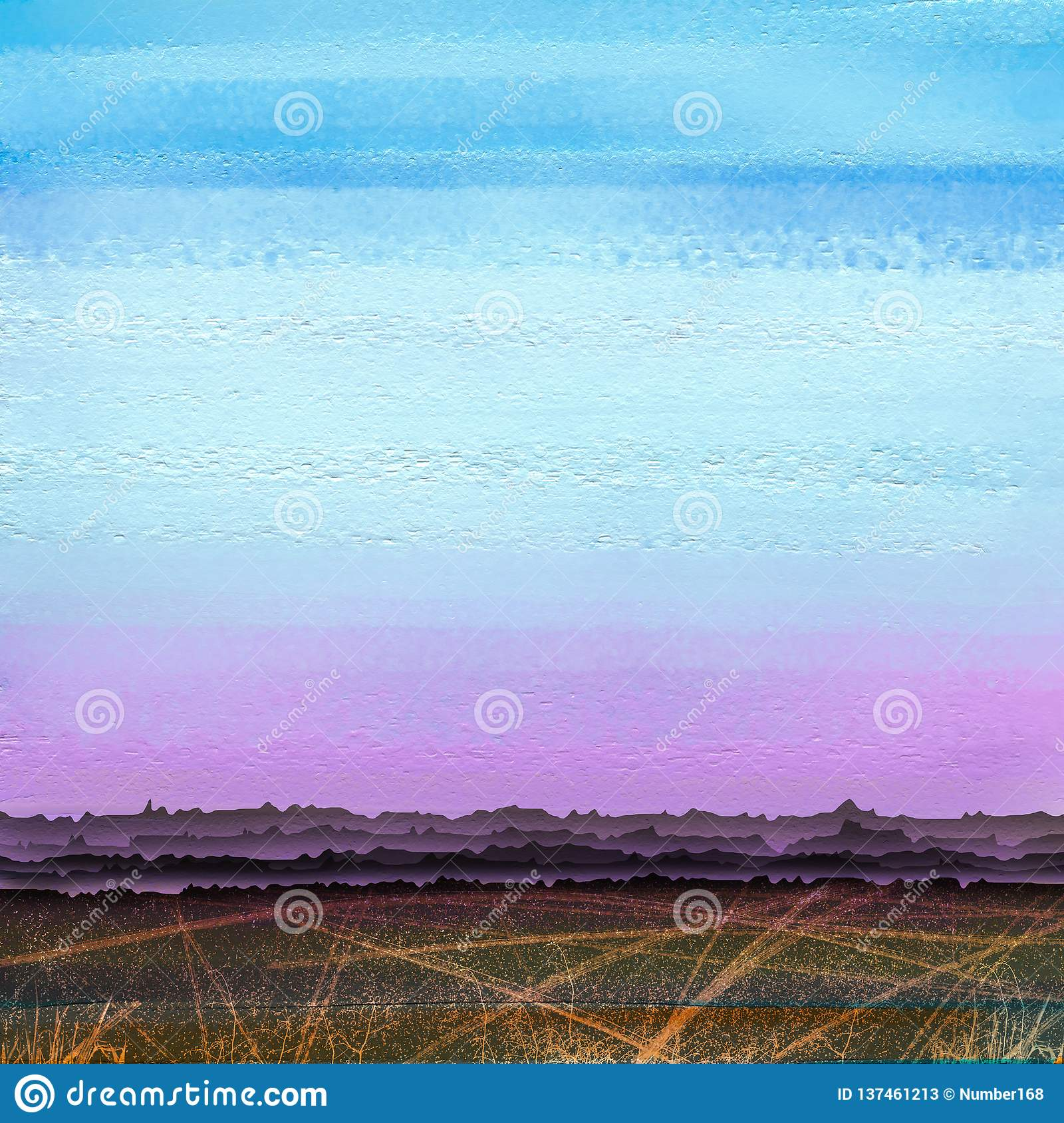 Abstract colorful oil, acrylic paint brush stroke on canvas texture. Semi abstract image of landscape painting background.