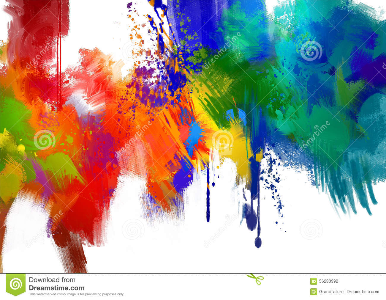 Abstract Colorful Paint Stroke Stock Illustration Image