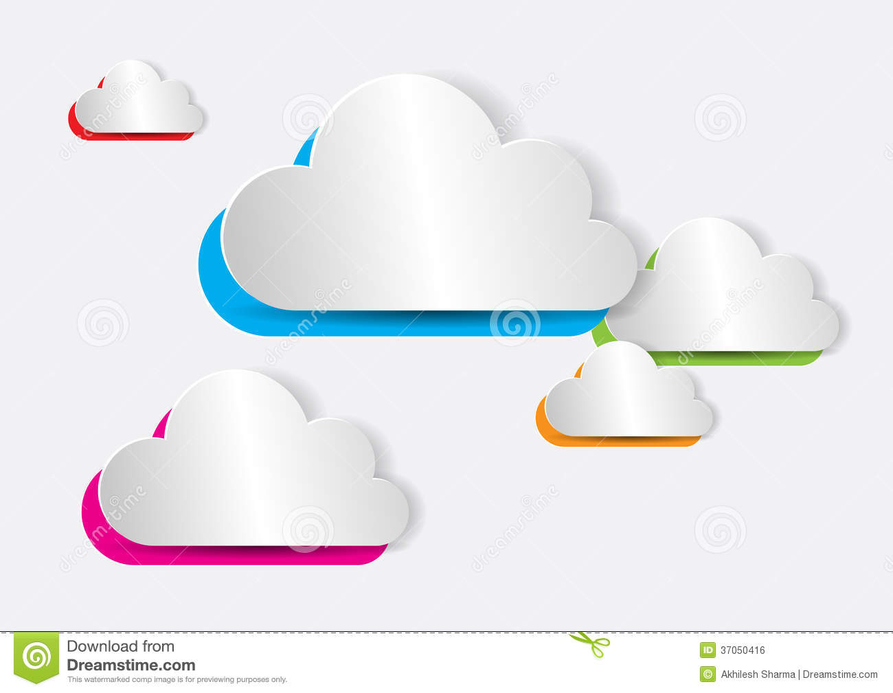 Abstract colorful paper cloud royalty free stock image for How to make a paper cloud
