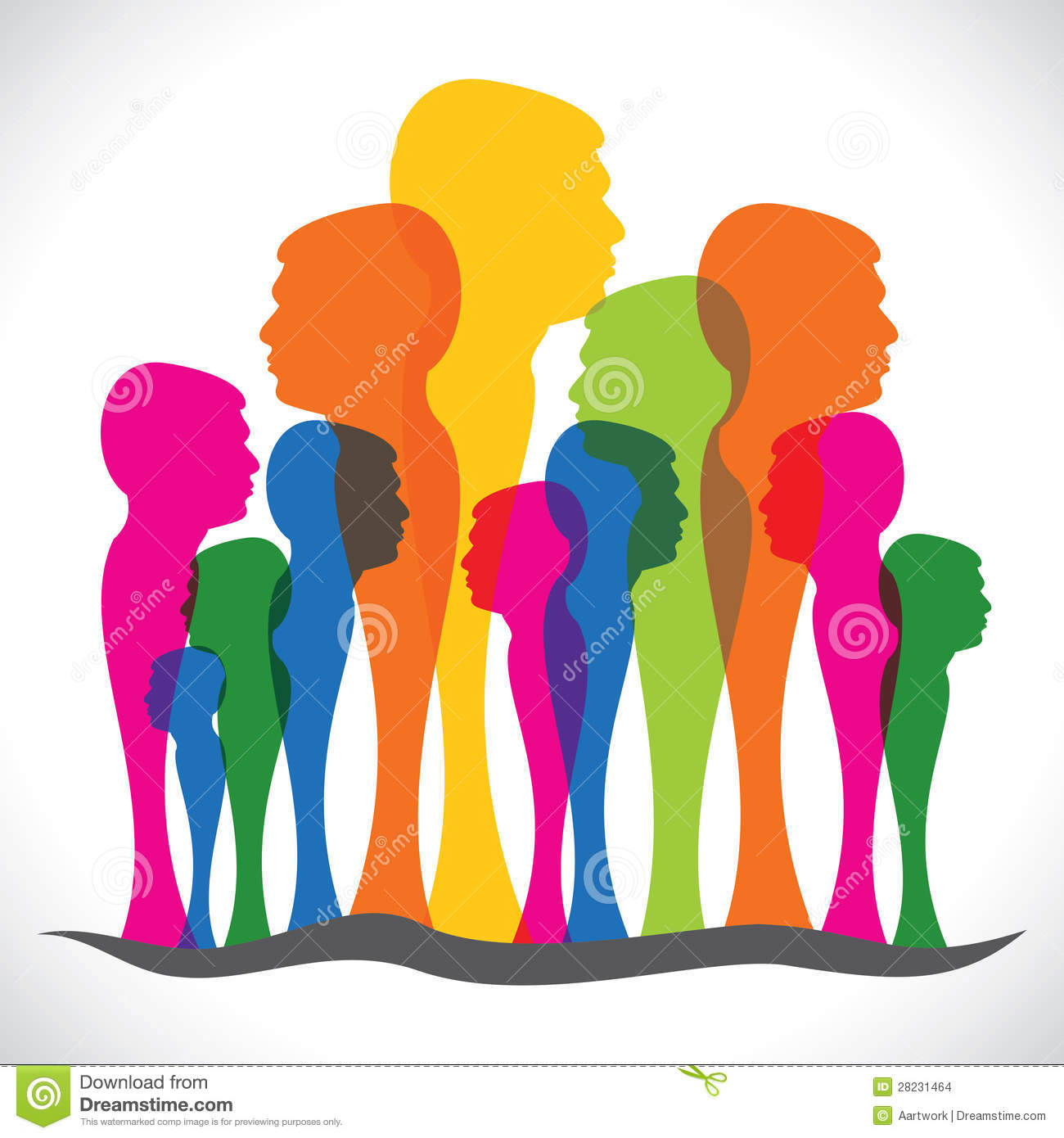 Abstract Colorful People Forest Stock Vector ... Colorful People