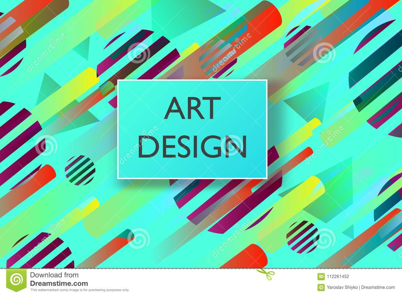 Abstract colorful playful banner background with fun texture design element. Vector illustration