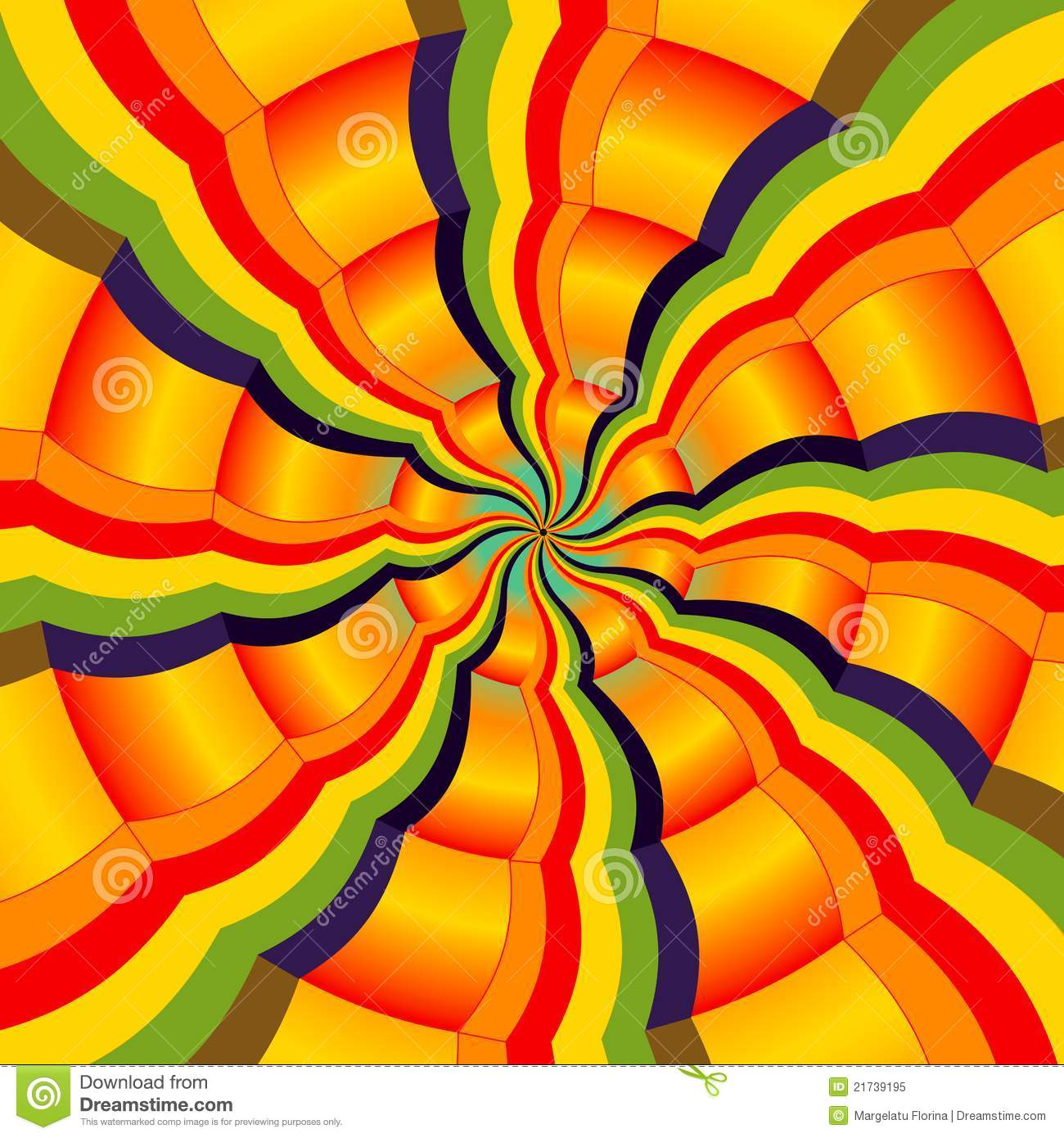 Abstract colorful radial spectrum