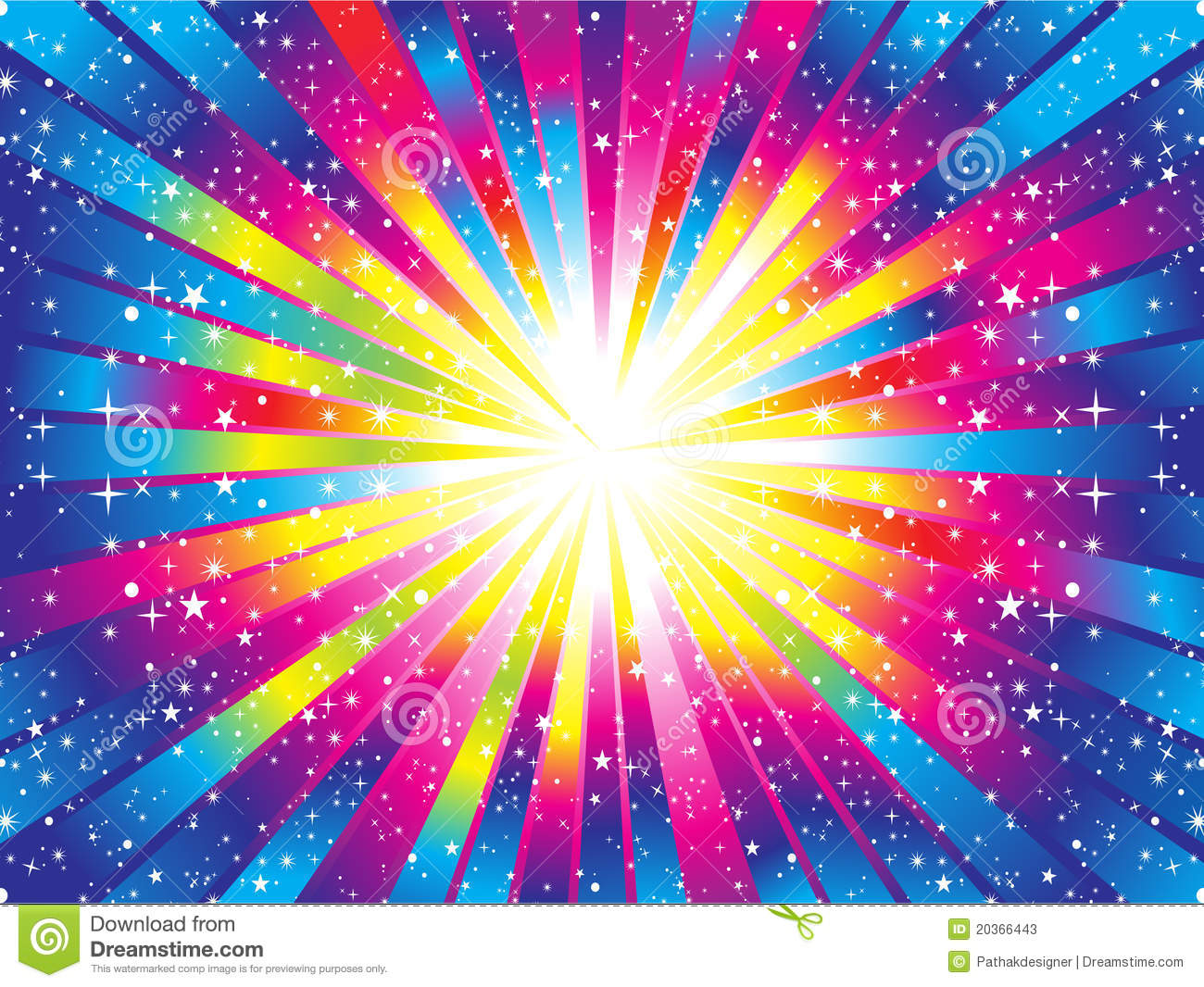 Abstract Colorful Rainbow Background Stock Vector