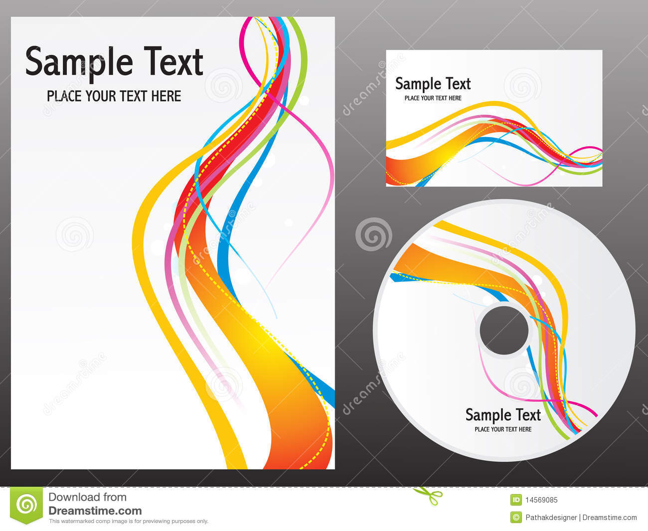 abstract colorful rainbow design templates