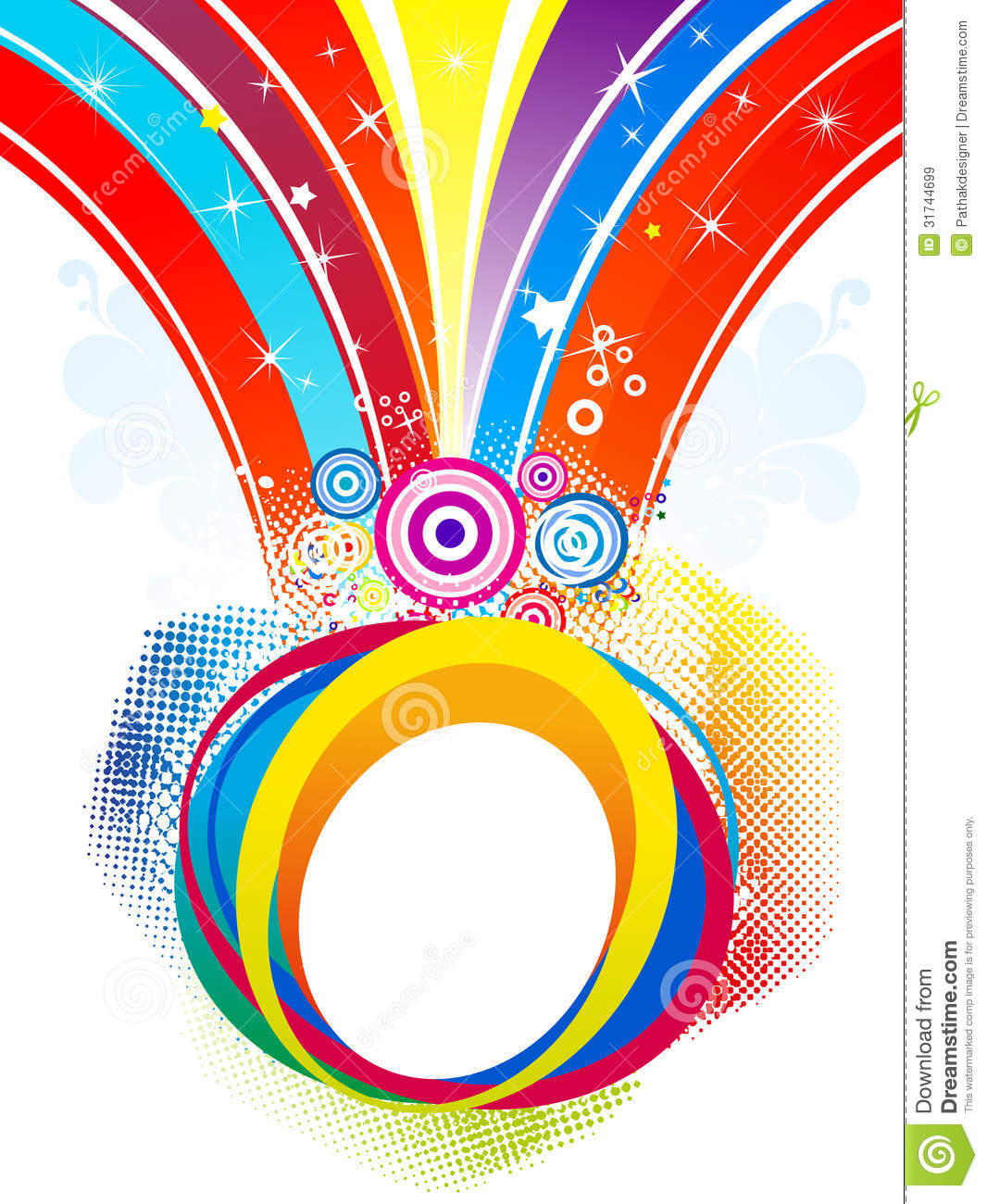 Abstract Colorful Rainbow Splash Background Royalty Free ...