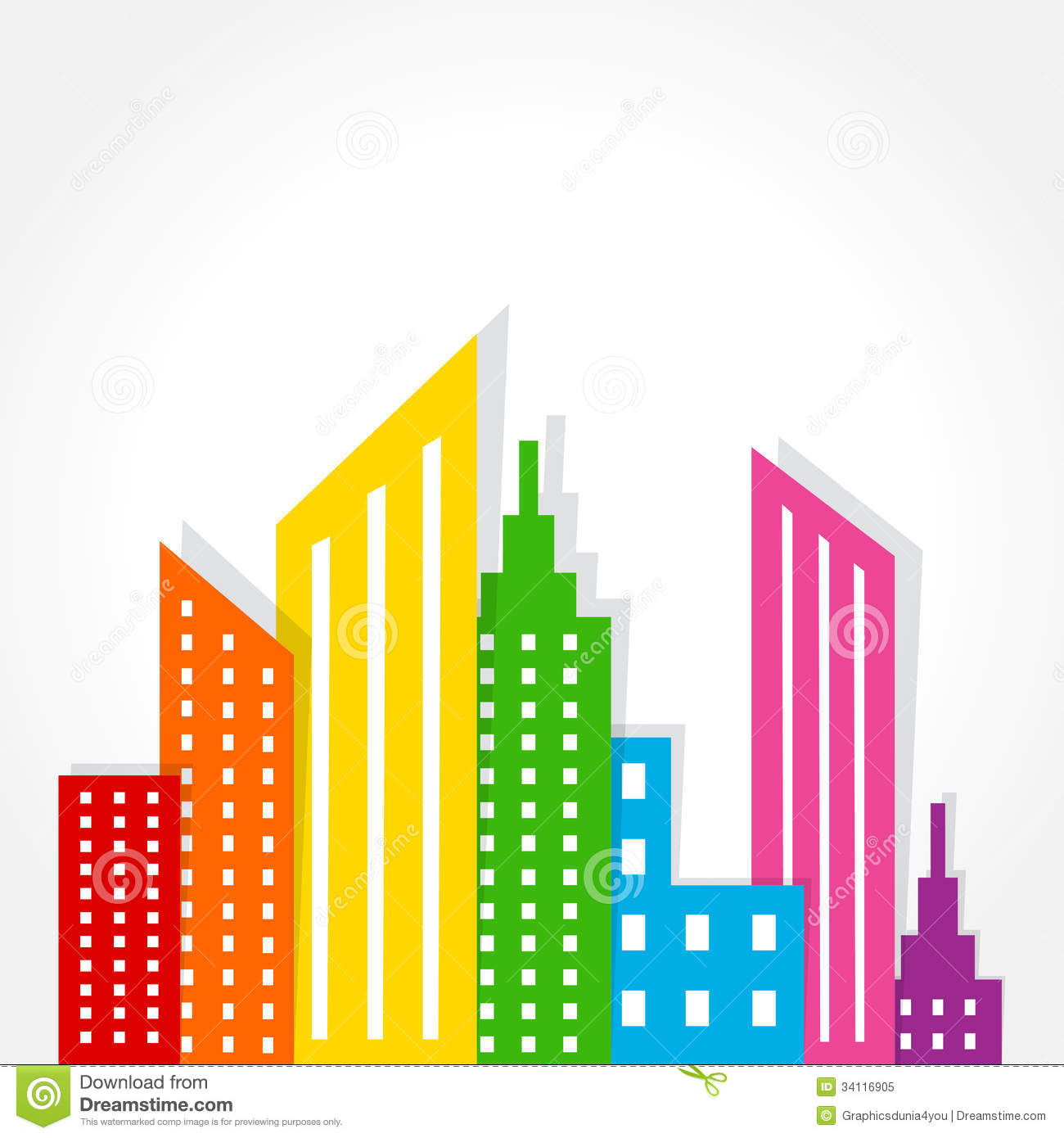 Real Estate Design : Abstract colorful real estate background design royalty