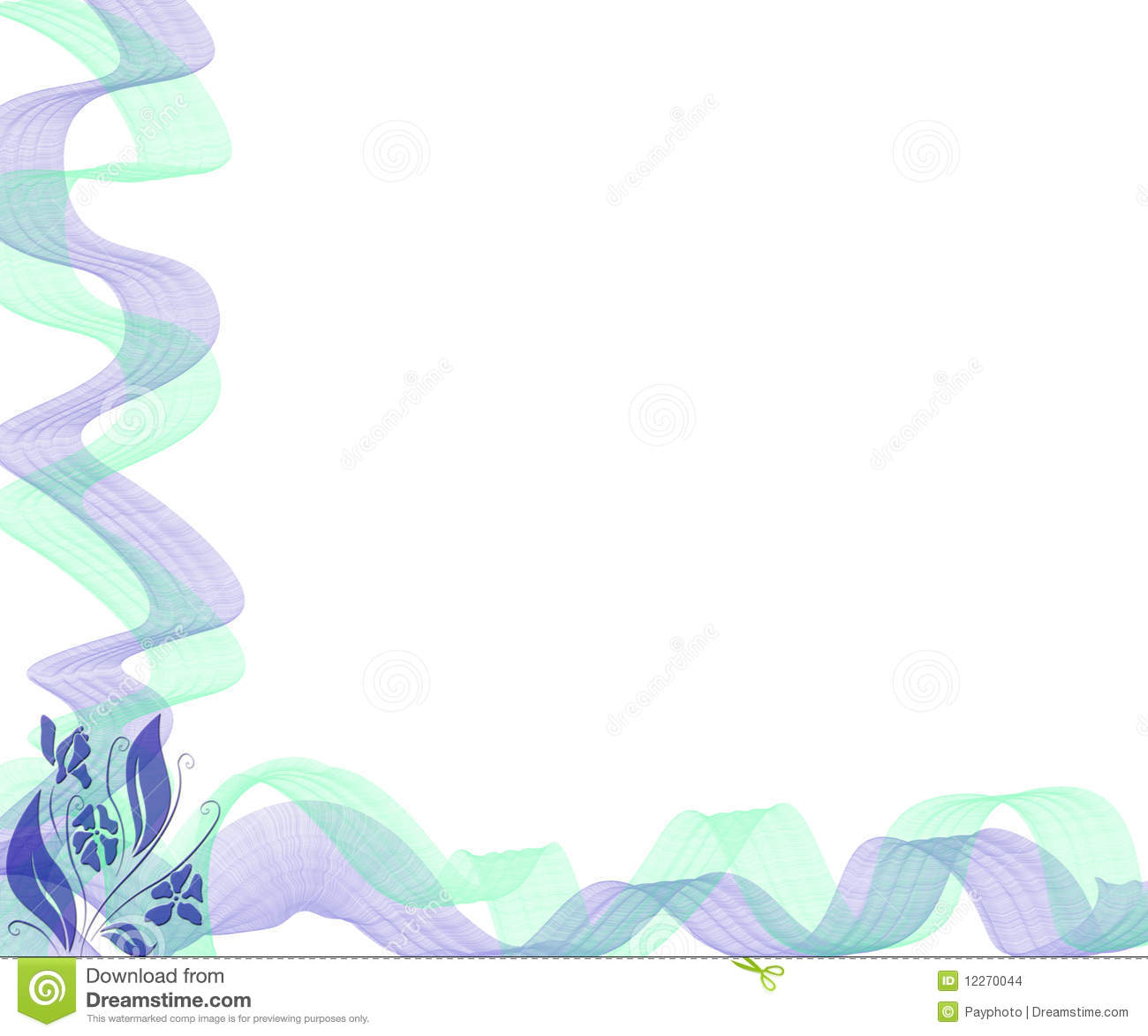 Abstract Colorful Ribbon Border Stock Images Image 12270044