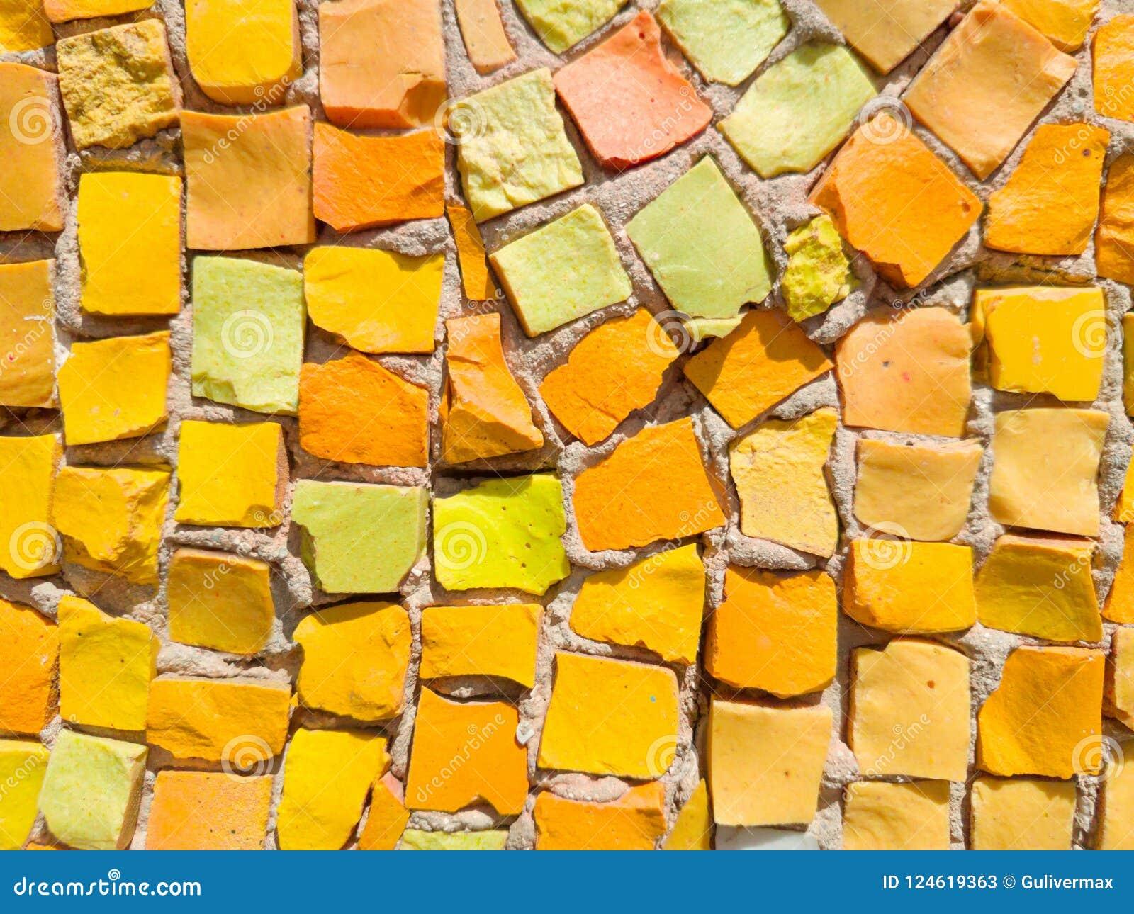 Abstract Colorful Smalt Mosaic. Exterior Wall Mosaic, Close-up Stock ...