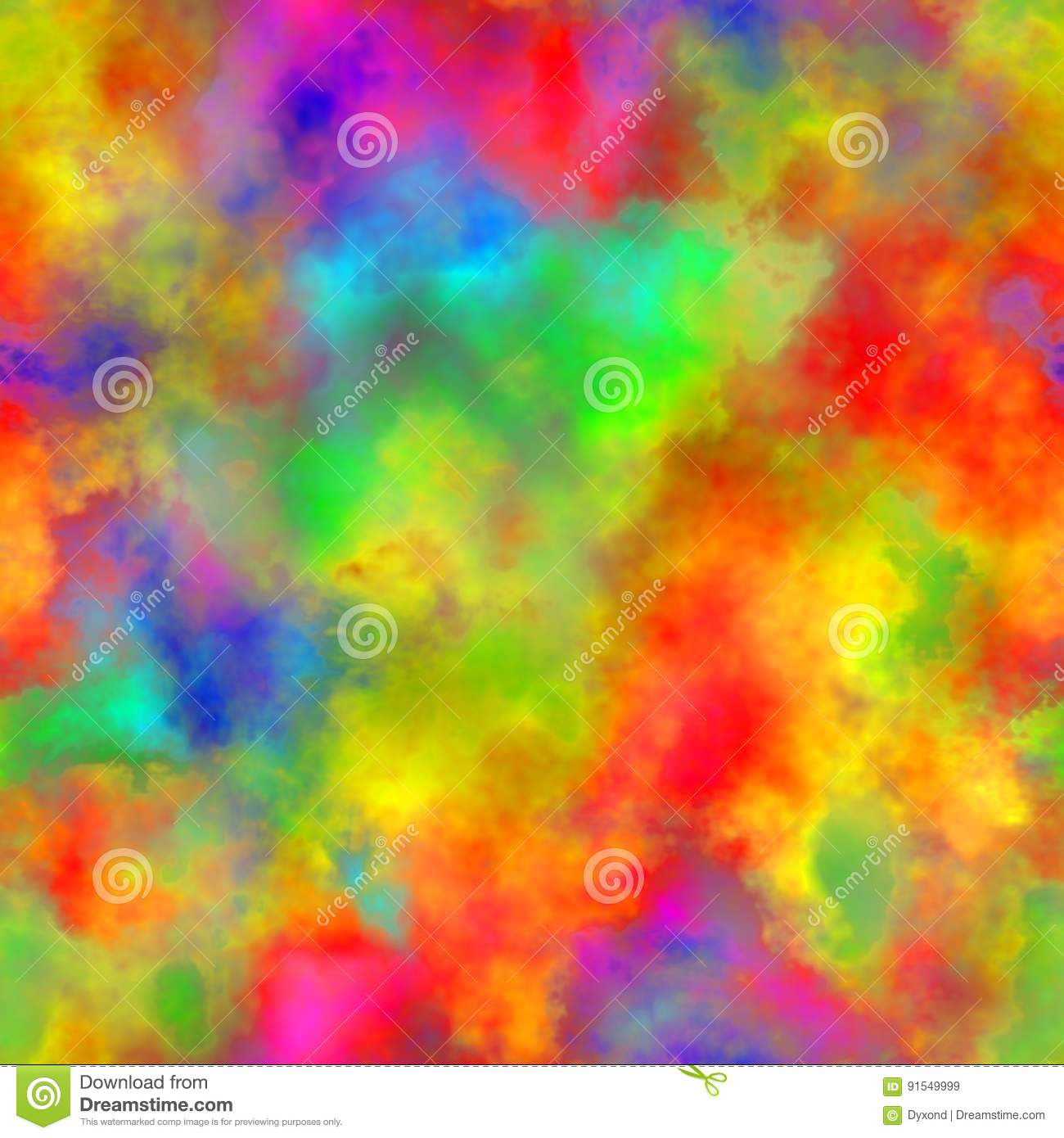 Abstract Colorful Smoke Multicolor Clouds Rainbow Cloudy Pattern