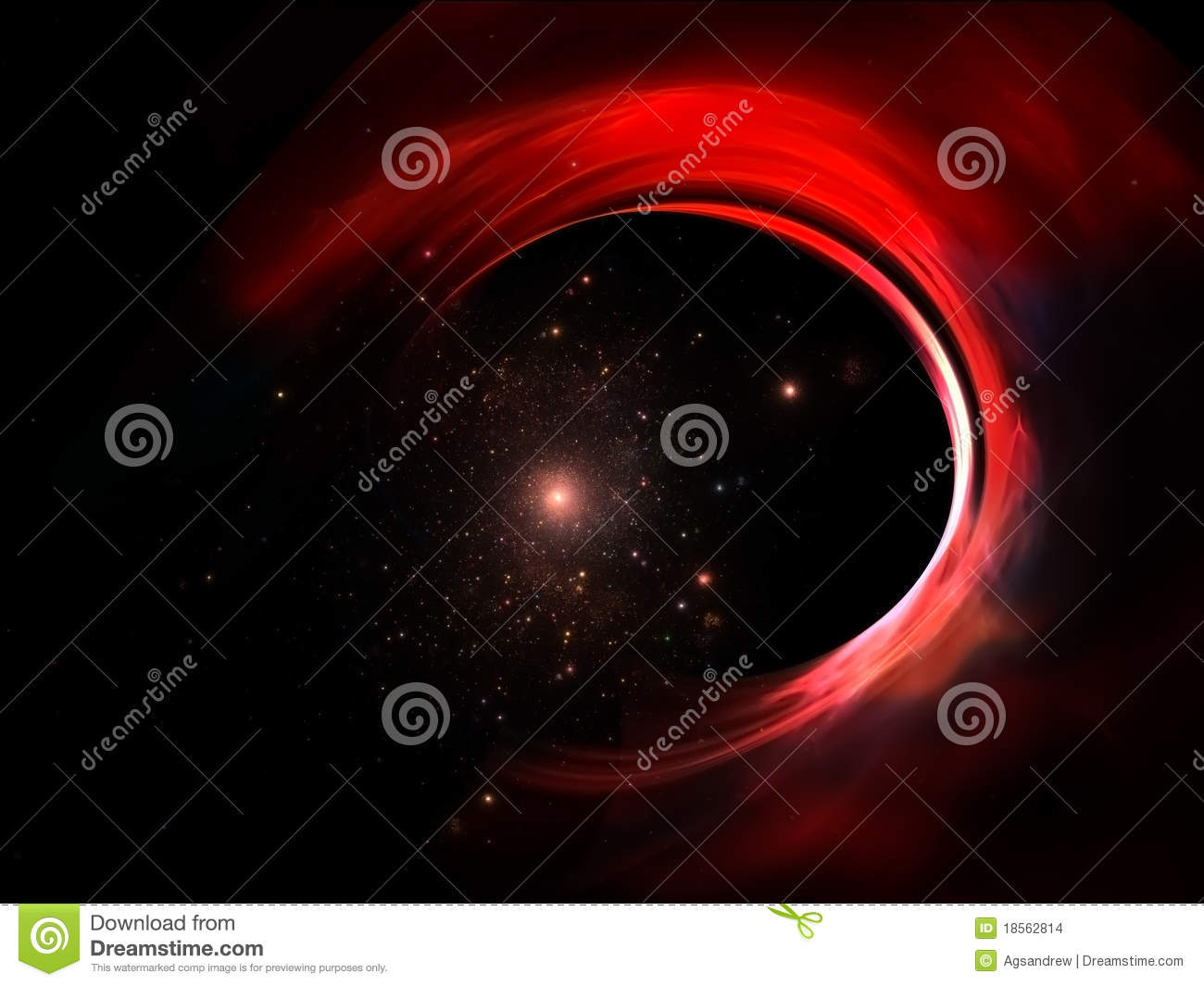 Abstract Colorful Space Background Stock Illustration