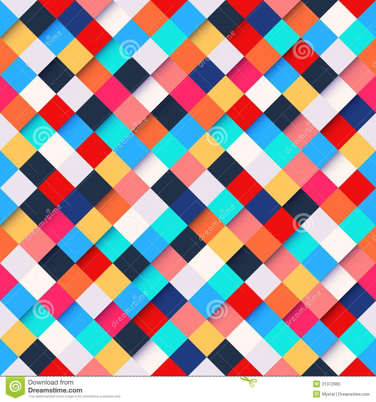 Abstract Colorful Square Pattern Background Royalty Free