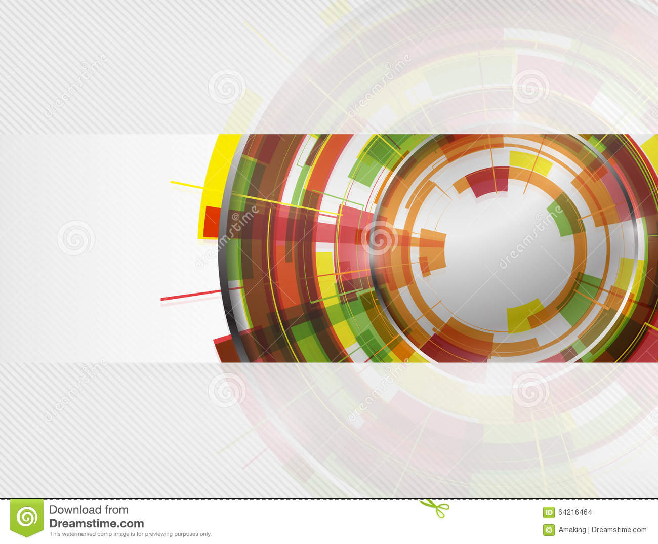 Technology Abstract Background Stock Illustration: Abstract Colorful Technology Circles Vector Background