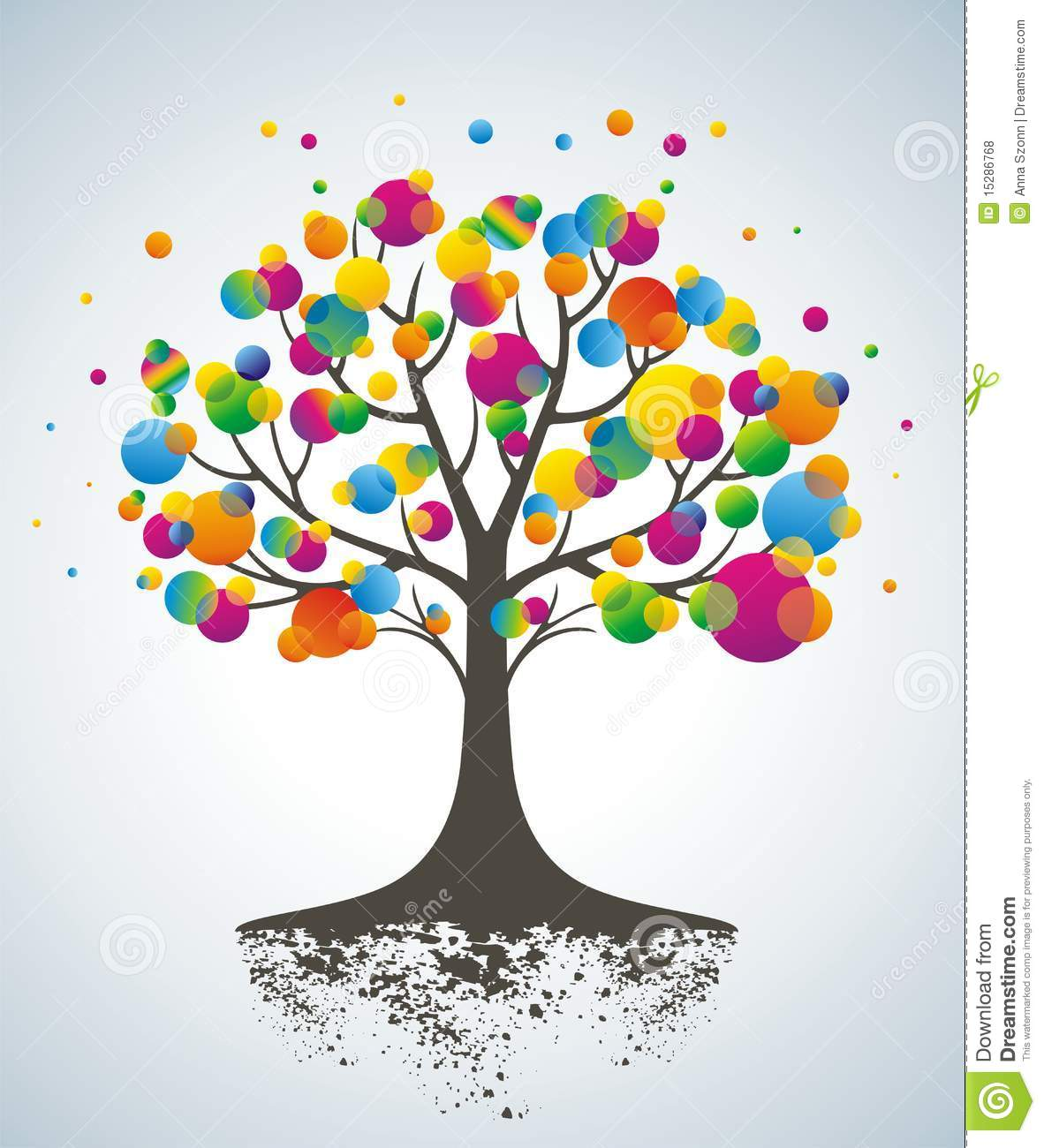 Abstract Colorful Tree Royalty Free Stock Photos Image 15286768