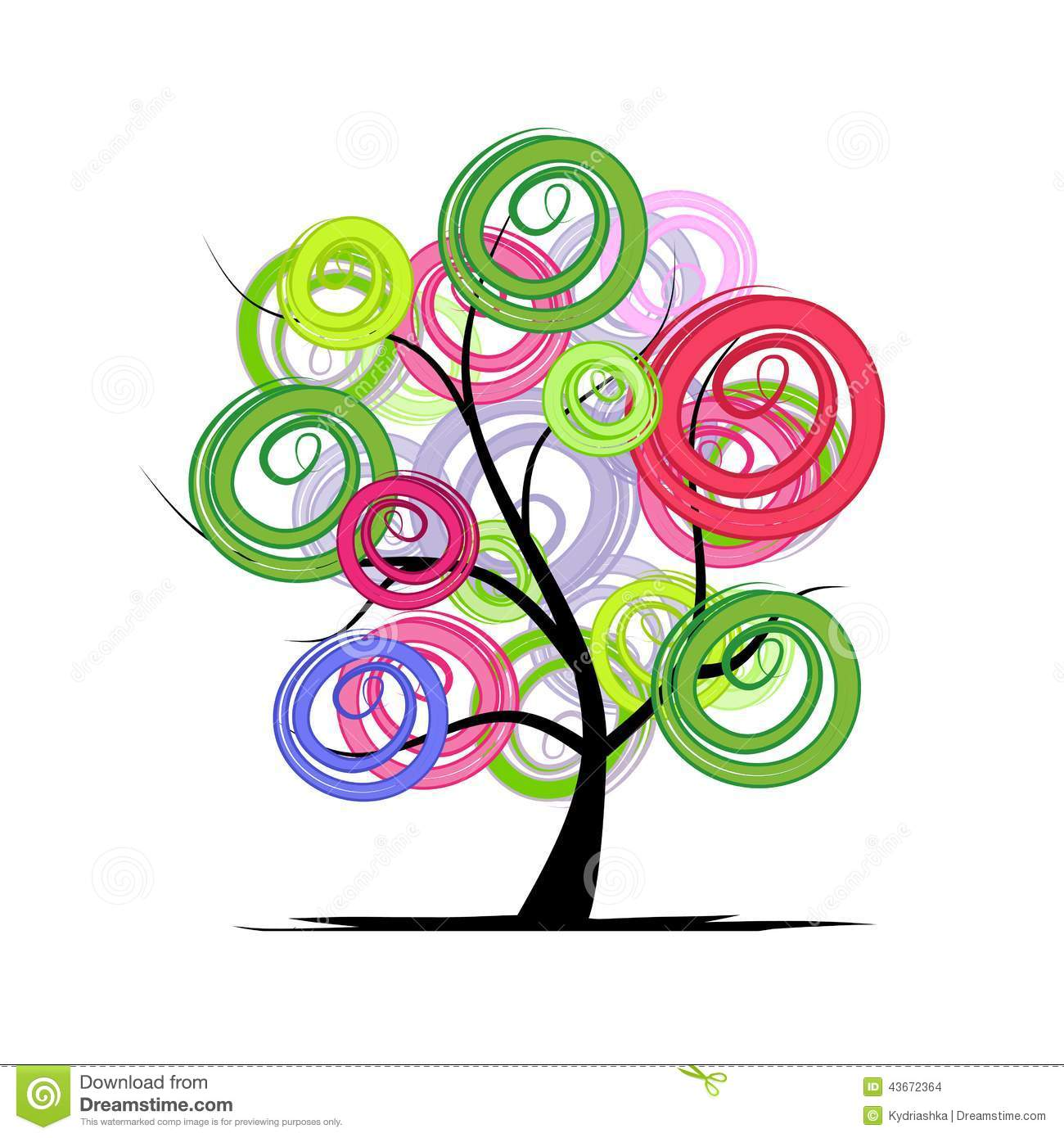 Abstract Colorful Tree For Your Design Stock Vector - Illustration ...