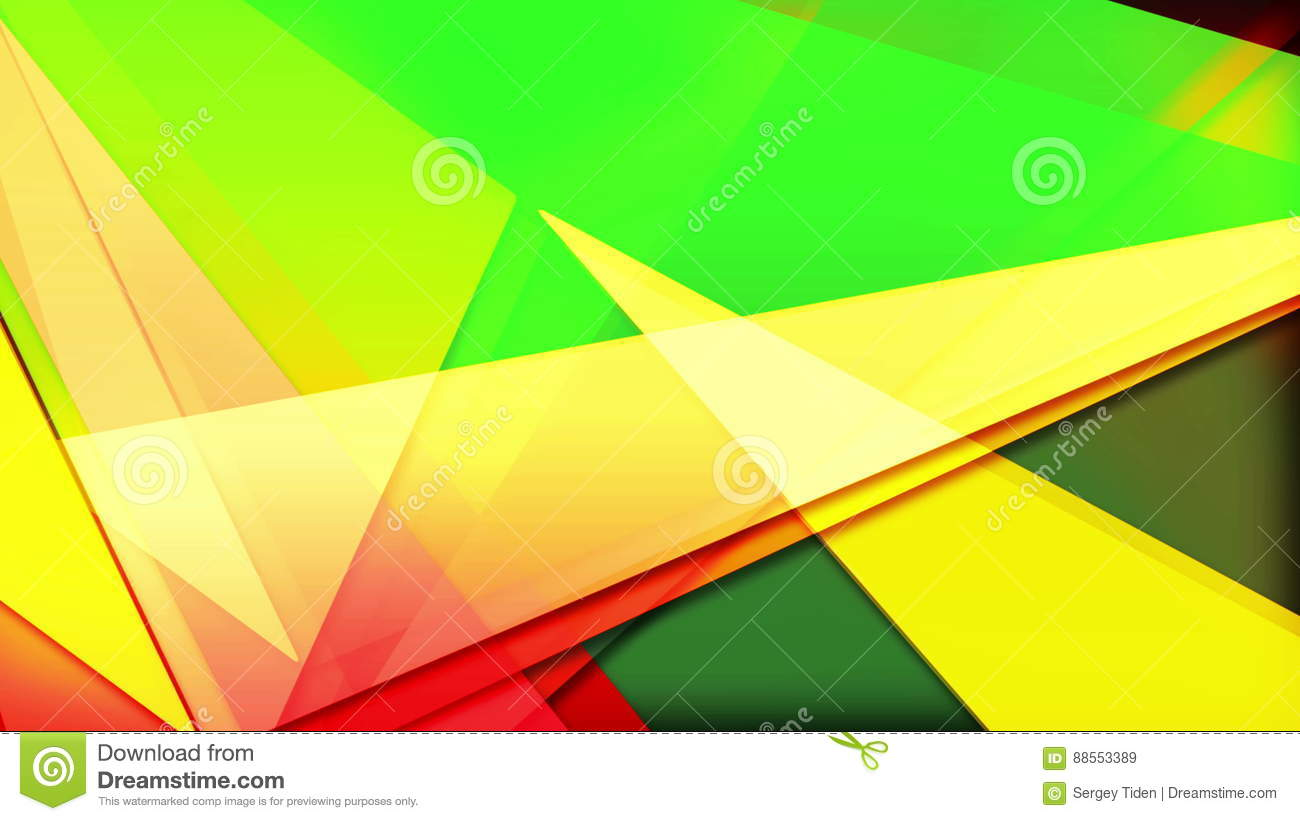 Abstract Colorful Triangles Background Loop Stock Video