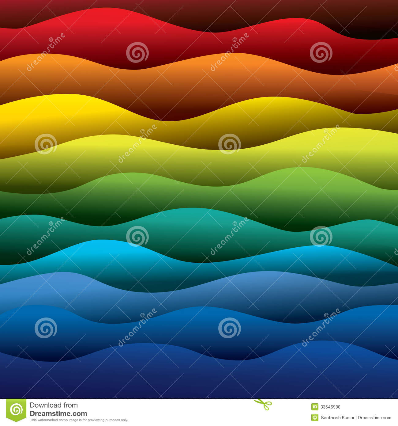 Abstract colorful water waves of ocean or sea background