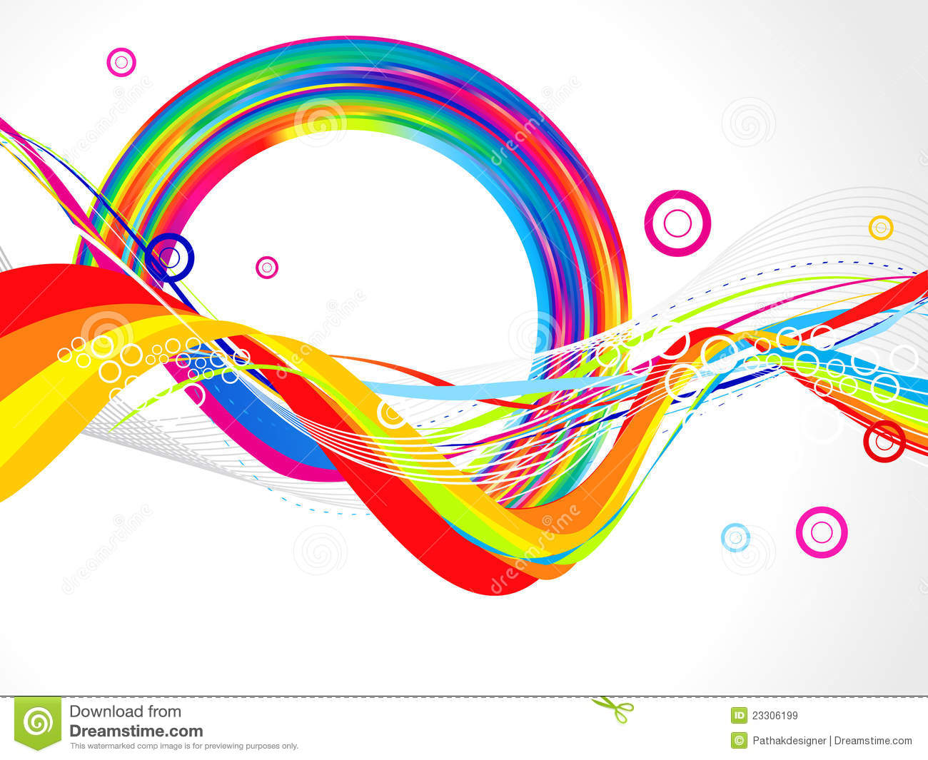 Abstract Volleyball On Colorful Wave Background: Abstract Colorful Wave Background Royalty Free Stock