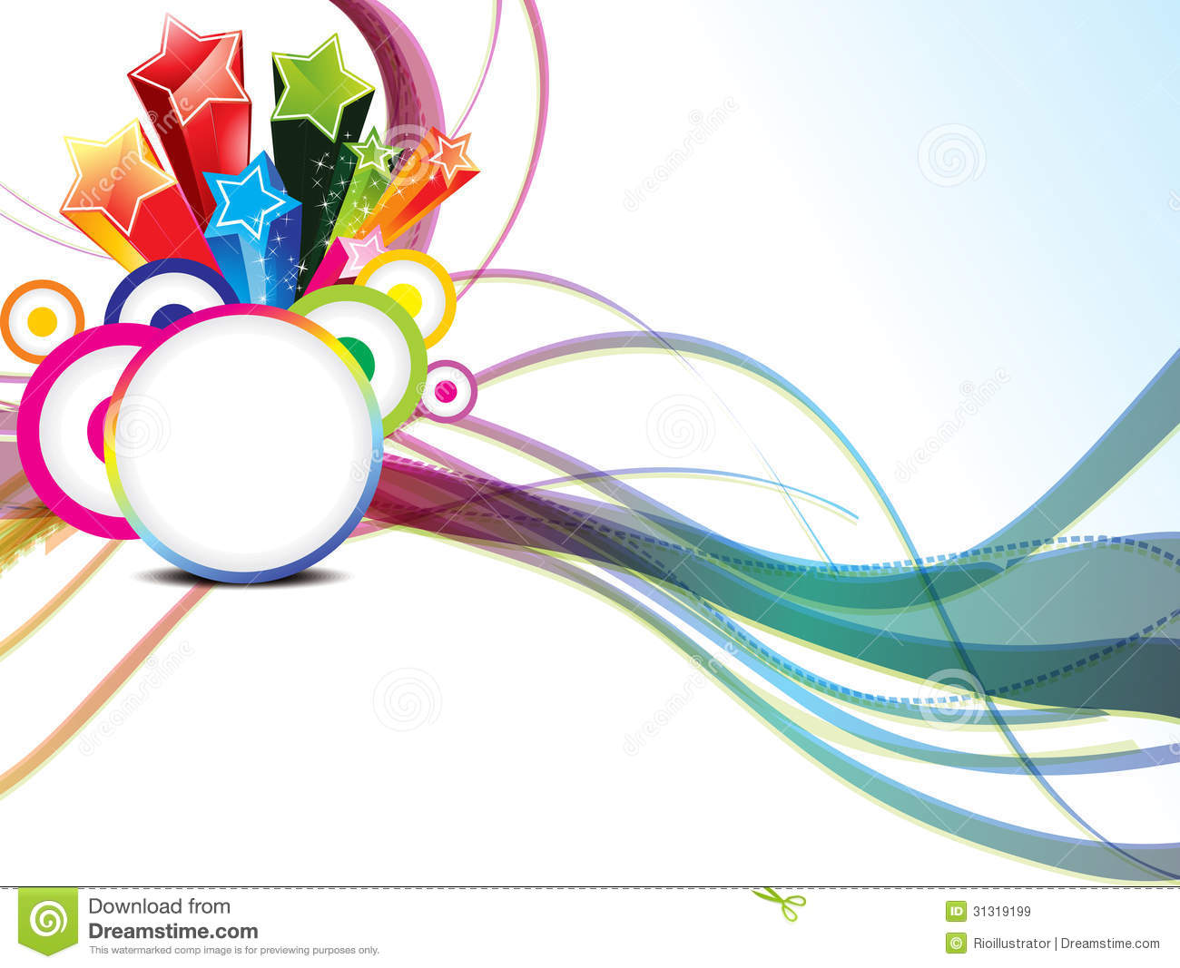 Abstract Background With Sport Icons Royalty Free Vector: Abstract Colorful Wave Background With Circle Stock Vector