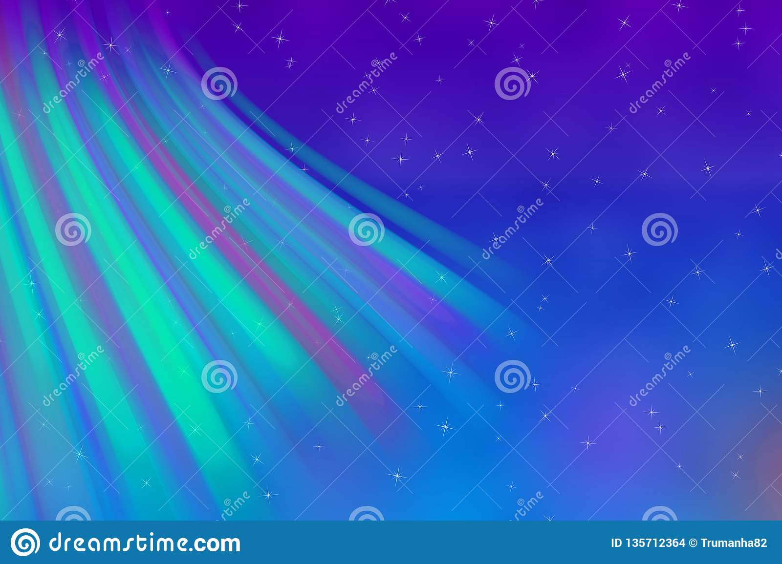 Abstract Colors of Northern Lights