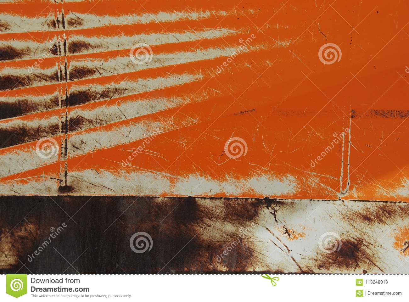 Download Abstract Colour Combination And Rust Seen On A Piece Of Heavy Machinery Stock Image