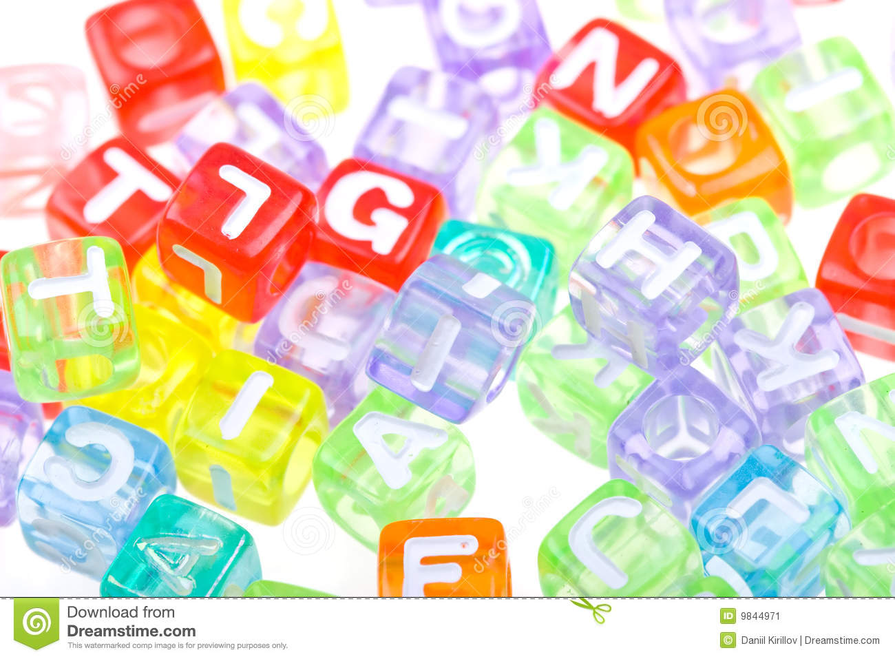 Abstract colourful alphabet blocks background