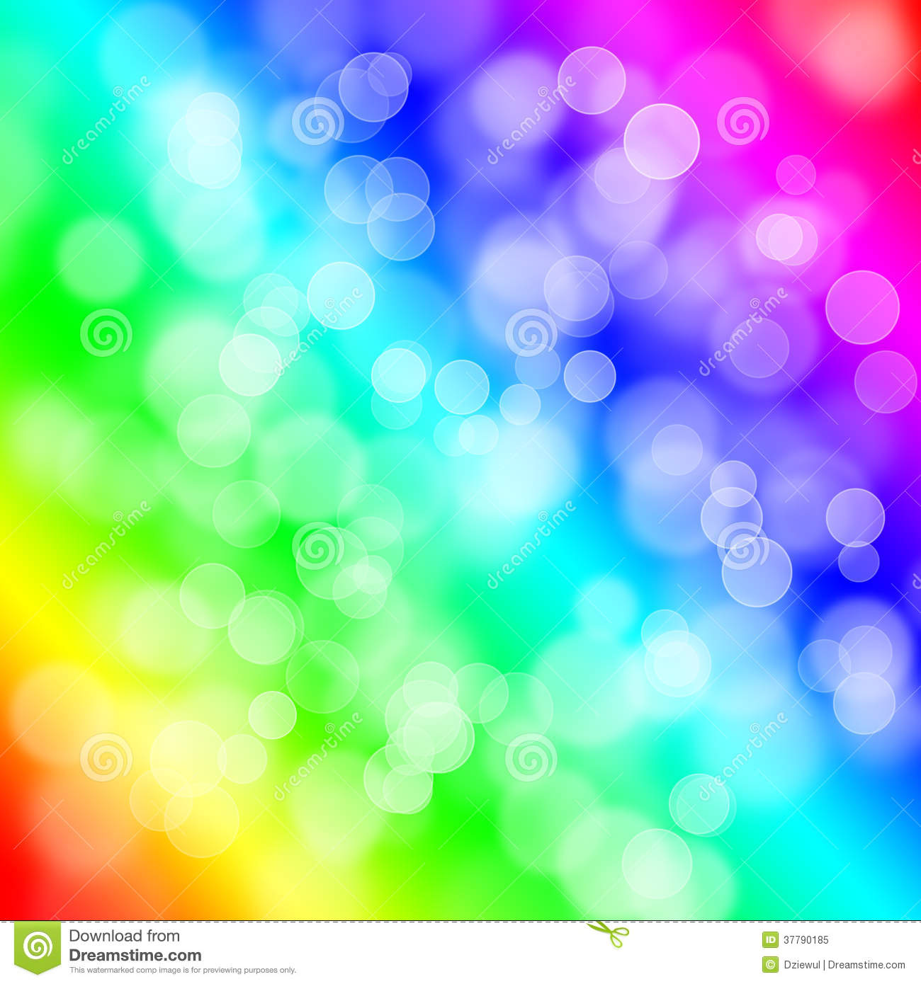 Abstract Bubbles Cute Colorful Wallpaper
