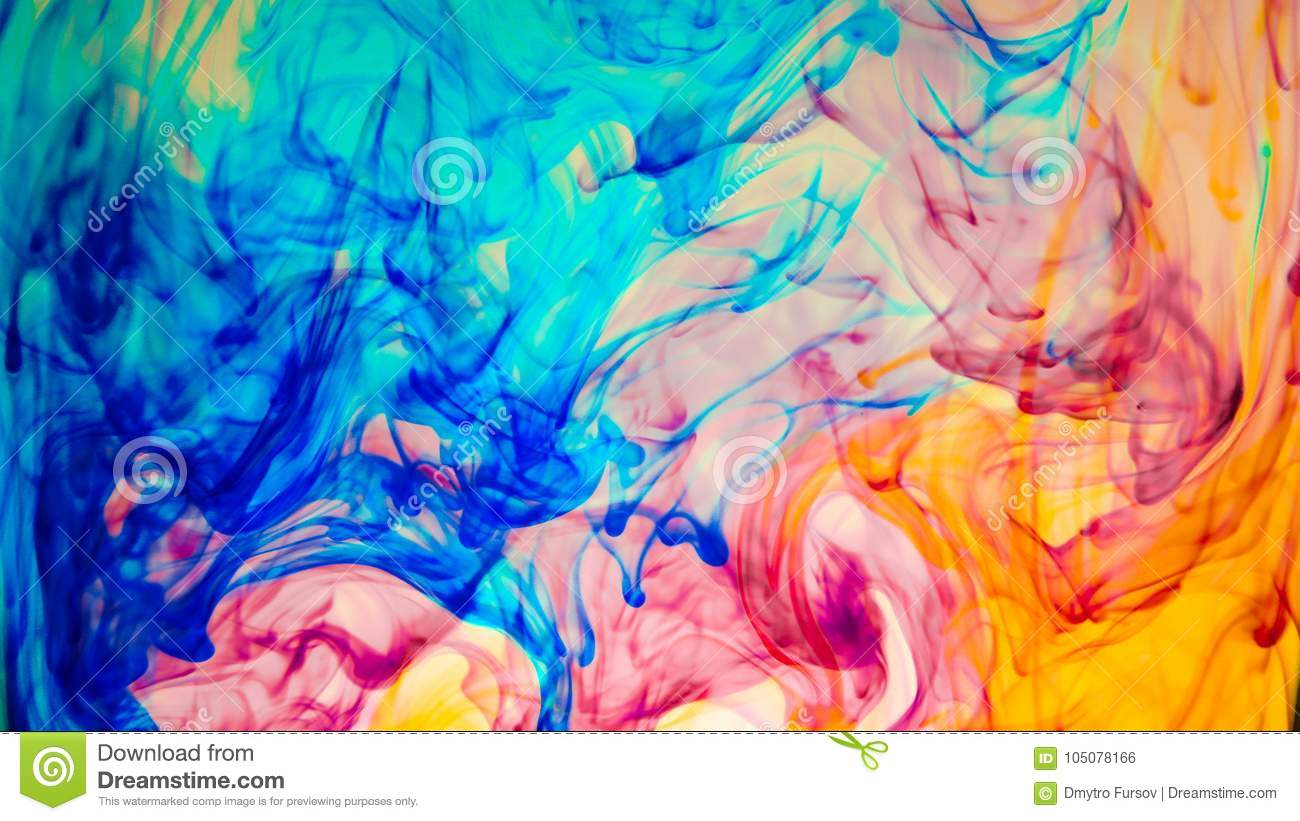 abstract colourful paint in water background stock photo image of