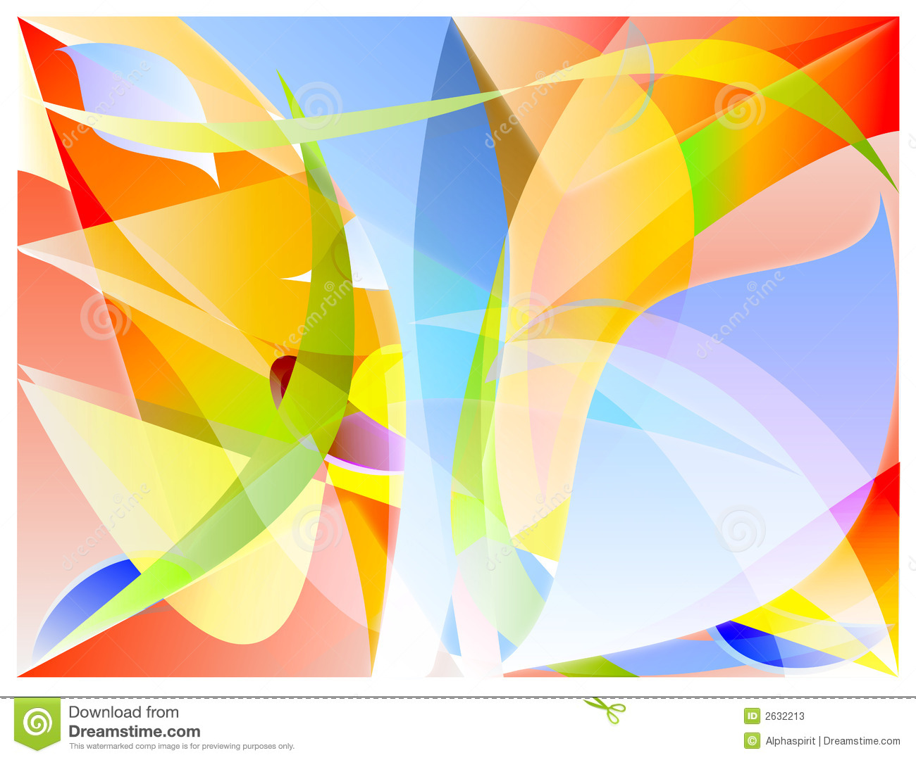 Abstract colours vector