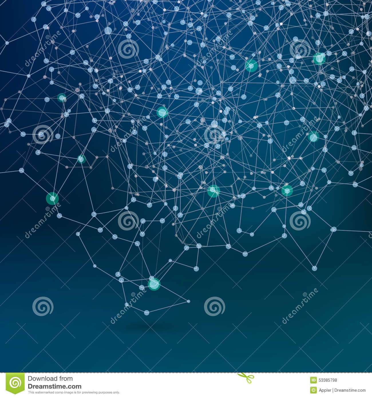 Abstract Communication Network, Dark Scheme Background ...