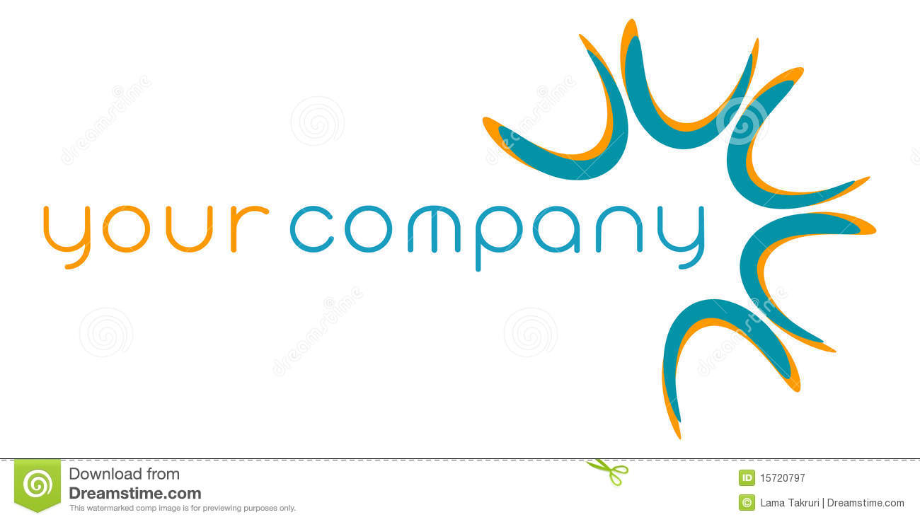 Abstract modern company logo design with copy space, isolated on white ...